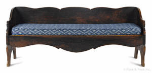 New England stained maple bench ca 1800