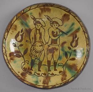 Jacob Medinger Montgomery County Pennsylvania 18561932 redware plate