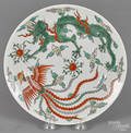Chinese porcelain dragon and phoenix plate