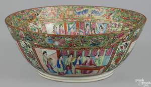 Chinese export rose canton bowl 19th c
