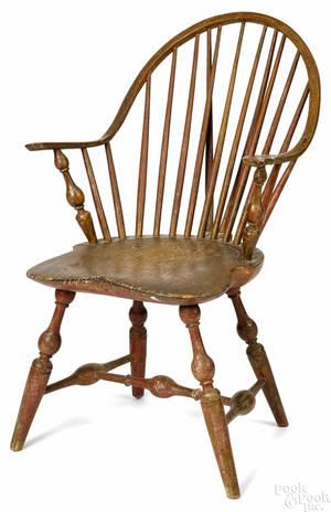New York braceback Windsor armchair ca 1790