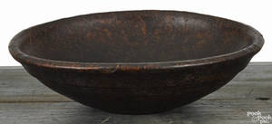 New England burl bowl 19th c
