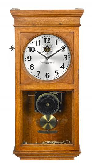 Self Winding Clock Co wall clock