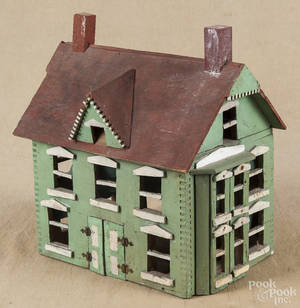 Primitive painted doll house