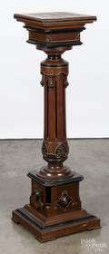 Eastlake Victorian walnut pedestal