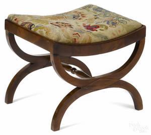 Classical mahogany cerule stool ca 1835