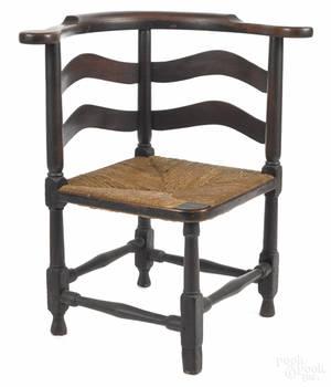 Pennsylvania Queen Anne walnut corner chair ca 1750