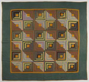 Pennsylvania pieced log cabin quilt