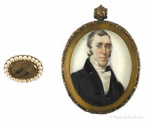 American watercolor portrait of Samuel Wilkeson 17811848