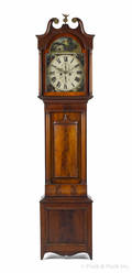 Scottish mahogany tall case clock ca 1820