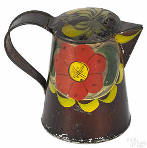 Pennsylvania toleware syrup pitcher 19th c