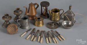 Group of miniature tablewares 19th c