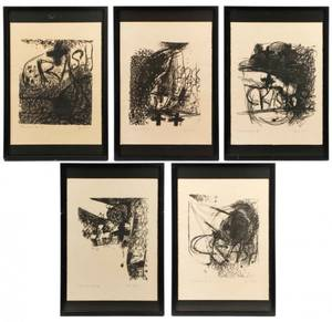 Jim Dine The Crash Series of 5 Lithographs 833