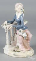 Aledifor porcelain figure of a seated woman