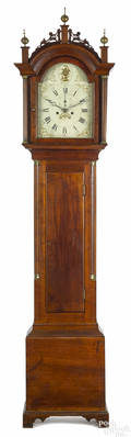 Connecticut Federal mahogany tall case clock ca 1810