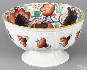 Gaudy Welsh centerpiece bowl 19th c