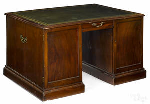 George IV mahogany partners desk late 18th c