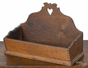 Pennsylvania walnut hanging box early 19th c