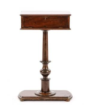 Diminutive 19th C English Mahogany Work Table