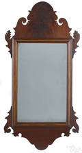 Chippendale mahogany looking glass ca 1800
