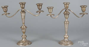 Pair of Gorham weighted sterling silver candelabra