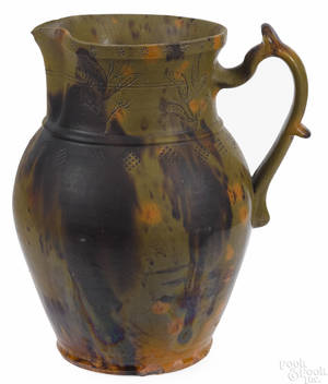 Pennsylvania redware pitcher 19th c
