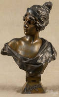 White metal bust of Lucrece