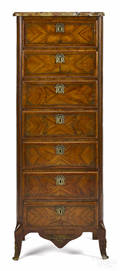 French marble top lingerie chest ca 1900