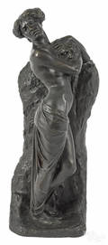 German bronze of Salome and the head of John the Baptist ca 1900