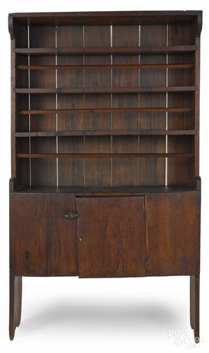 Pennsylvania walnut wall cupboard ca 1800