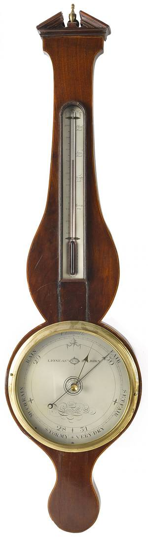 English mahogany banjo barometer