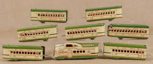 Marx streamline O gauge  Union Pacific  eightpiece train set