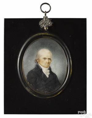 Two miniature portraits on ivory 19th c