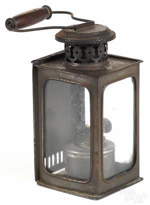 Miniature tin carry lantern 19th c
