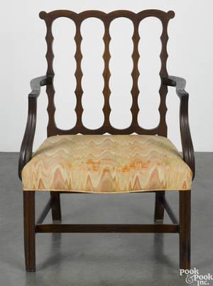 George III mahogany armchair ca 1780