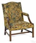 George III mahogany open armchair ca 1770