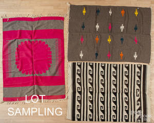 Nine Native American Indian weavings