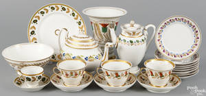 Collection of porcelain wares ca 1825