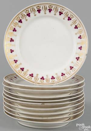 Set of ten porcelain plates ca 1830
