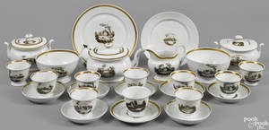 Assembled Philadelphia Tucker porcelain tea service ca 1825