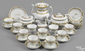 Assembled Tucker porcelain tea and coffee service ca 1825