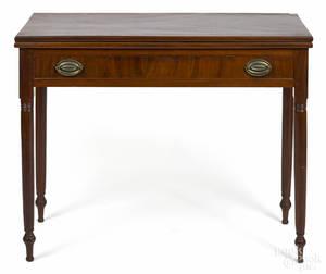 Pennsylvania Sheraton mahogany games table