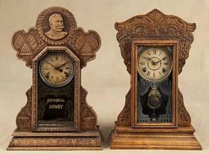 Ingraham  Admiral Dewey  oak mantel clock