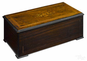 Swiss cylinder music box late 19th c