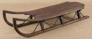 Primitive wood and iron sled