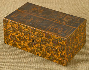 English painted dresser box early 19th c