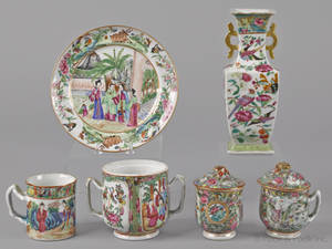 Chinese export famille rose porcelain 19th c