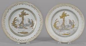 Two Chinese export porcelain plates late 18th c