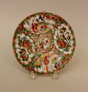Small Late 19th C Porcelain Plate