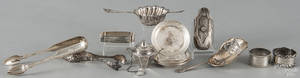 Group of sterling silver table accessories
